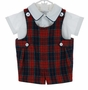 NEW Vintage Style Imp Originals Red Plaid Wool blend Romper Set
