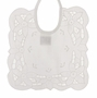 "<img src=""http://site.grammies-attic.com/images/blue-sold-1.gif""> NEW White Battenberg Lace Square Bib"