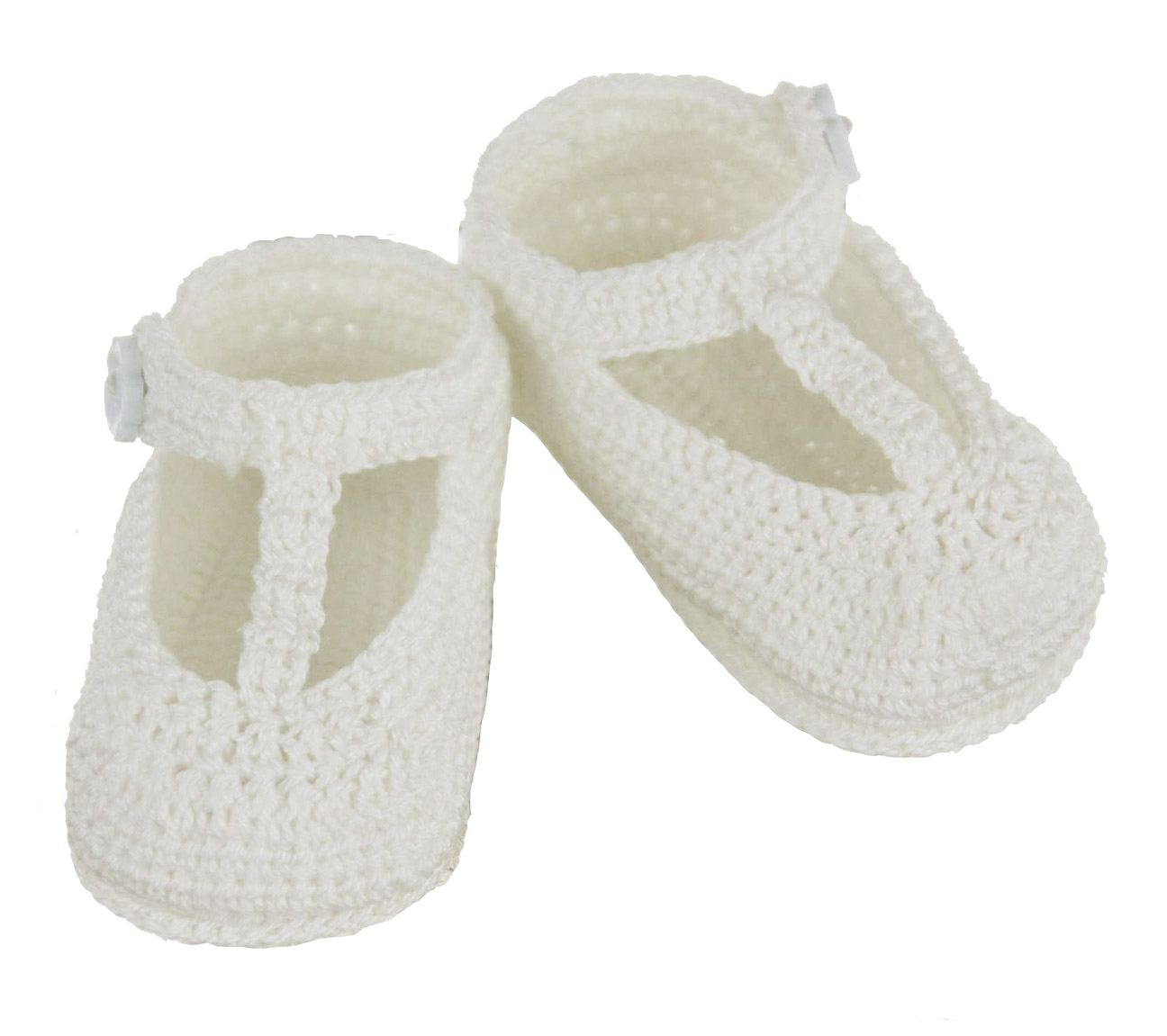 white cotton crocheted booties T strap style booties,white ...