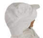 NEW White Embroidered Cotton Eyelet Sunbonnet with Flower