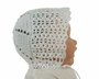 NEW White Vintage Style Cotton Crocheted Baby Bonnet