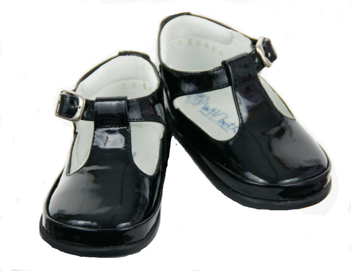 Will'Beth black patent leather baby shoes,black patent leather ...