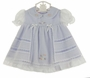 "<img src=""http://site.grammies-attic.com/images/blue-sold-1.gif""> NEW Will'Beth Lavender Dress with White Voile Overlay with Lace Insertion and Embroidered Flowers"