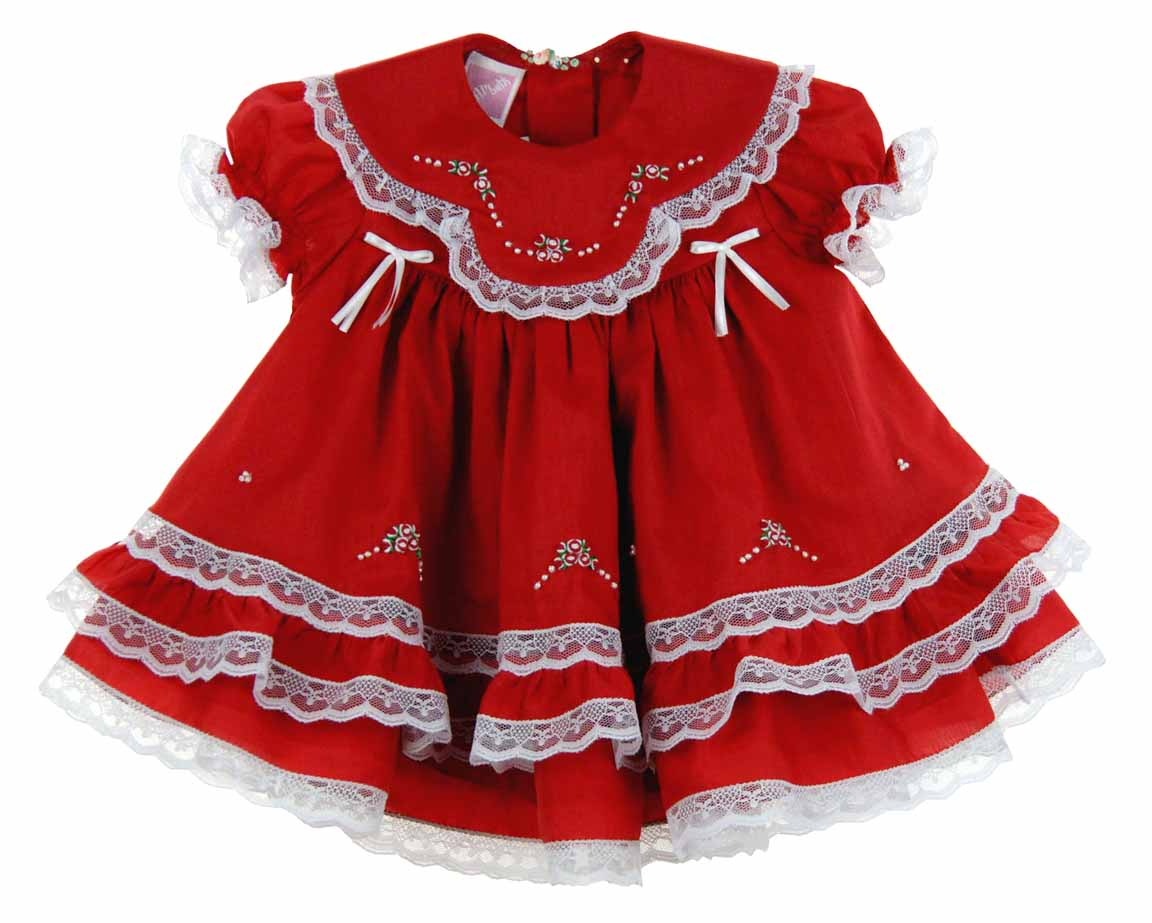 Will Beth Red Christmas Dress With Lace And Embroidery Red