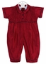 NEW Will'Beth Dark Red Silk Romper with Plaid Piping