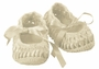 NEW Willbeth Vintage Style Ivory Cotton Knit Mary Jane Booties with Woven Ribbon