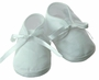 NEW Willbeth White Cotton Pincord Shoes with White Ribbon Ties