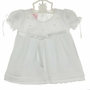 NEW Wll'Beth White Delicate Knit Dress with Seed Pearls and Matching Bonnet