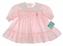 "<img src=""http://site.grammies-attic.com/images/blue-sold-1.gif""> NEW Polly Flinders Pink Smocked Baby Dress with Embroidered Kite"