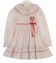 Polly Flinders White Smocked Dress with Red Dots and Red Embroidered Bells