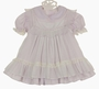 "<img src=""http://site.grammies-attic.com/images/blue-sold-1.gif""> Vintage Bryan Pale Lavender Dress with White Lace Trimmed Pinafore"