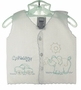 "<img src=""http://site.grammies-attic.com/images/blue-sold-1.gif"">  Vintage White Diaper Shirt with Elephant and Carwash Embroidery"