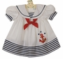 "<img src=""http://site.grammies-attic.com/images/blue-sold-1.gif""> Vintage White Sailor Dress with White Anchor Applique"
