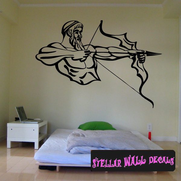 archery hunting bow and arrow cds002 sports vinyl wall decal - wall