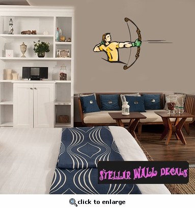 Archery Hunting Bow And Arrow CDScolor016 Sports Vinyl Wall Decal - Wall Mural - Car Sticker  SWD