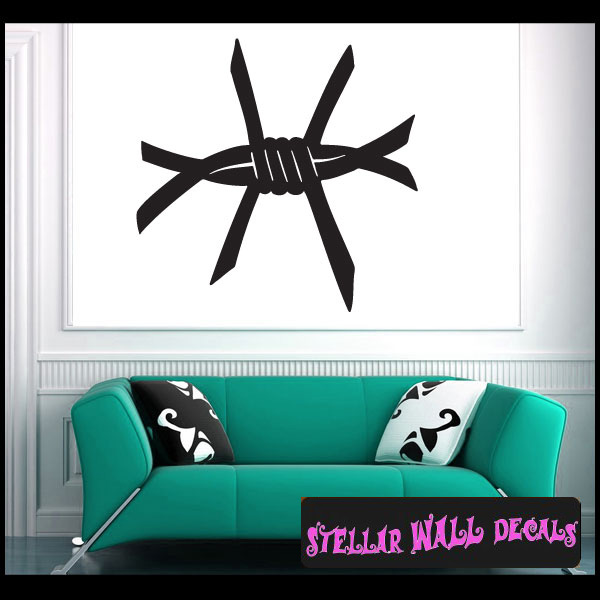 Barb Wire Vinyl Wall Decal Wall Sticker Car Sticker - Barb wire custom vinyl decals for trucks