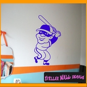 Baseball Batter MC002 Sports Icon Wall Mural Vinyl Decal Sticker SWD