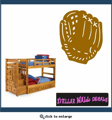 Baseball Glove NS001 Wall Decal - Wall Sticker - Wall Mural SWD
