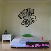 Baseball Jersey Hat And Cleets Throwing Hitting Pitching Batting Catching Sliding Swinging CDS043 Sports Vinyl Wall Decal - Wall Mural - Car Sticker  SWD
