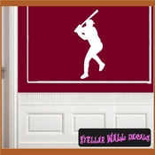 Baseball ST001 Sports Icon Wall Mural Vinyl Decal Sticker SWD