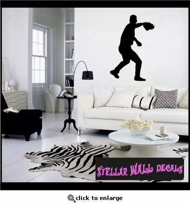 Baseball ST008 Sports Icon Wall Mural - Vinyl Wall Decal - Sticker SWD