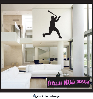 Baseball ST017 Sports Icon Wall Mural - Vinyl Wall Decal - Sticker SWD