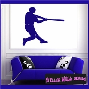 Baseball ST019 Sports Icon Wall Mural Vinyl Decal Sticker SWD