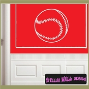 Baseball ST020 Sports Icon Wall Mural Vinyl Decal Sticker SWD