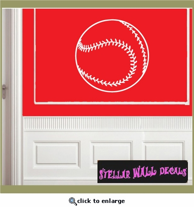 Baseball ST020 Sports Icon Wall Mural - Vinyl Wall Decal - Sticker SWD