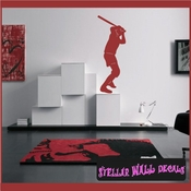 Baseball ST027 Sports Icon Wall Mural Vinyl Decal Sticker SWD