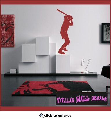 Baseball ST027 Sports Icon Wall Mural - Vinyl Wall Decal - Sticker SWD