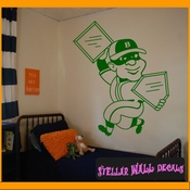 Baseball Stealing Home and First MC001 Sports Icon Wall Mural Vinyl Decal Sticker SWD