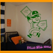 Baseball Stealing Home and First MC001 Sports Icon Wall Mural - Vinyl Wall Decal - Sticker SWD
