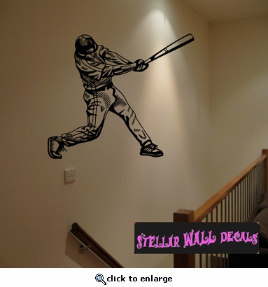 Baseball Throwing Hitting Pitching Batting Catching Sliding Swinging CDS001 Sports Vinyl Wall Decal - Wall Mural - Car Sticker  SWD