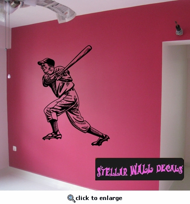 Baseball Throwing Hitting Pitching Batting Catching Sliding Swinging CDS002 Sports Vinyl Wall Decal - Wall Mural - Car Sticker  SWD