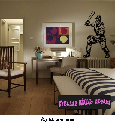 Baseball Throwing Hitting Pitching Batting Catching Sliding Swinging CDS086 Sports Vinyl Wall Decal - Wall Mural - Car Sticker  SWD