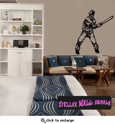 Baseball Throwing Hitting Pitching Batting Catching Sliding Swinging CDS087 Sports Vinyl Wall Decal - Wall Mural - Car Sticker  SWD