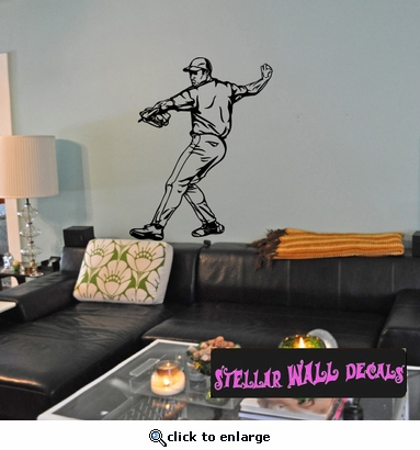 Baseball Throwing Hitting Pitching Batting Catching Sliding Swinging CDS116 Sports Vinyl Wall Decal - Wall Mural - Car Sticker  SWD