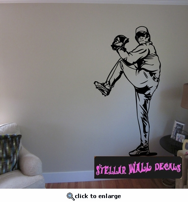 Baseball Throwing Hitting Pitching Batting Catching Sliding Swinging CDS119 Sports Vinyl Wall Decal - Wall Mural - Car Sticker  SWD