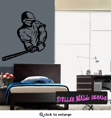 Baseball Throwing Hitting Pitching Batting Catching Sliding Swinging CDS163 Sports Vinyl Wall Decal - Wall Mural - Car Sticker  SWD