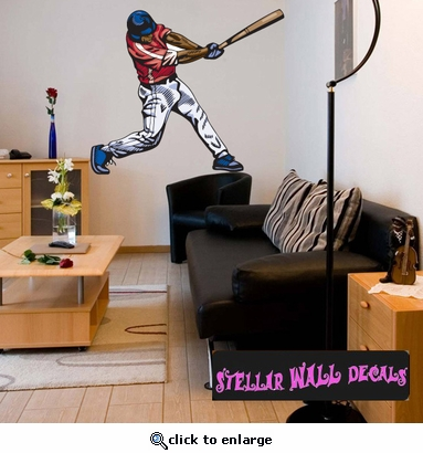 Baseball Throwing Hitting Pitching Batting Catching Sliding Swinging CDSColor054 Sports Vinyl Wall Decal - Wall Mural - Car Sticker  SWD
