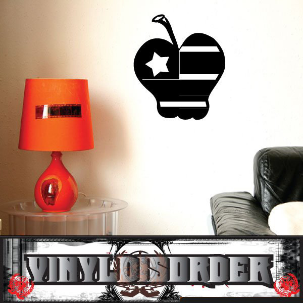 butterflies kit with trails apple flag patriotic vinyl wall decal