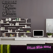 Christ The Reason for the season Christmas Holiday Wall Decals - Wall Quotes - Wall Murals HD026 SWD