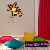 Christmas Bell Wall Decal - Wall Fabric - Repositionable Decal - Vinyl Car Sticker - usc014
