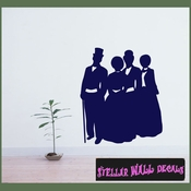 Christmas Carolers NS002 Wall Decal - Wall Sticker - Wall Mural SWD