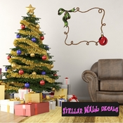 Christmas Frame Wall Decal - Wall Fabric - Repositionable Decal - Vinyl Car Sticker - usc002