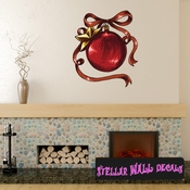 Christmas Ornament Wall Decal - Wall Fabric - Repositionable Decal - Vinyl Car Sticker - usc010