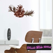 Christmas Pinecone Wall Decal - Wall Fabric - Repositionable Decal - Vinyl Car Sticker - usc002