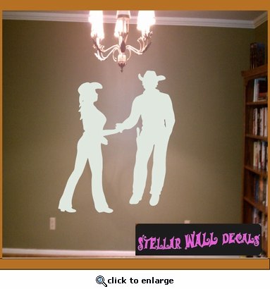 Cowboy Love NS009 Wall Decal - Wall Sticker - Wall Mural SWD