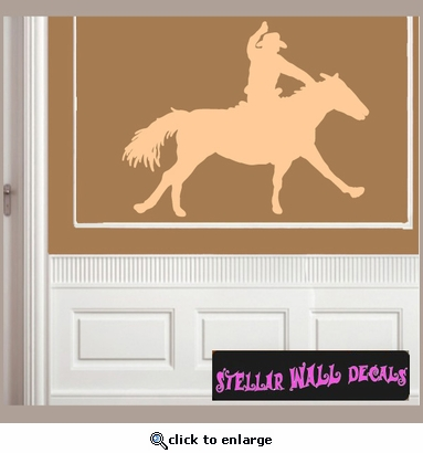 Cowboy Rodeo Sport Vinyl Wall Decal - Wall Sticker - Car Sticker RodeoST117 SWD